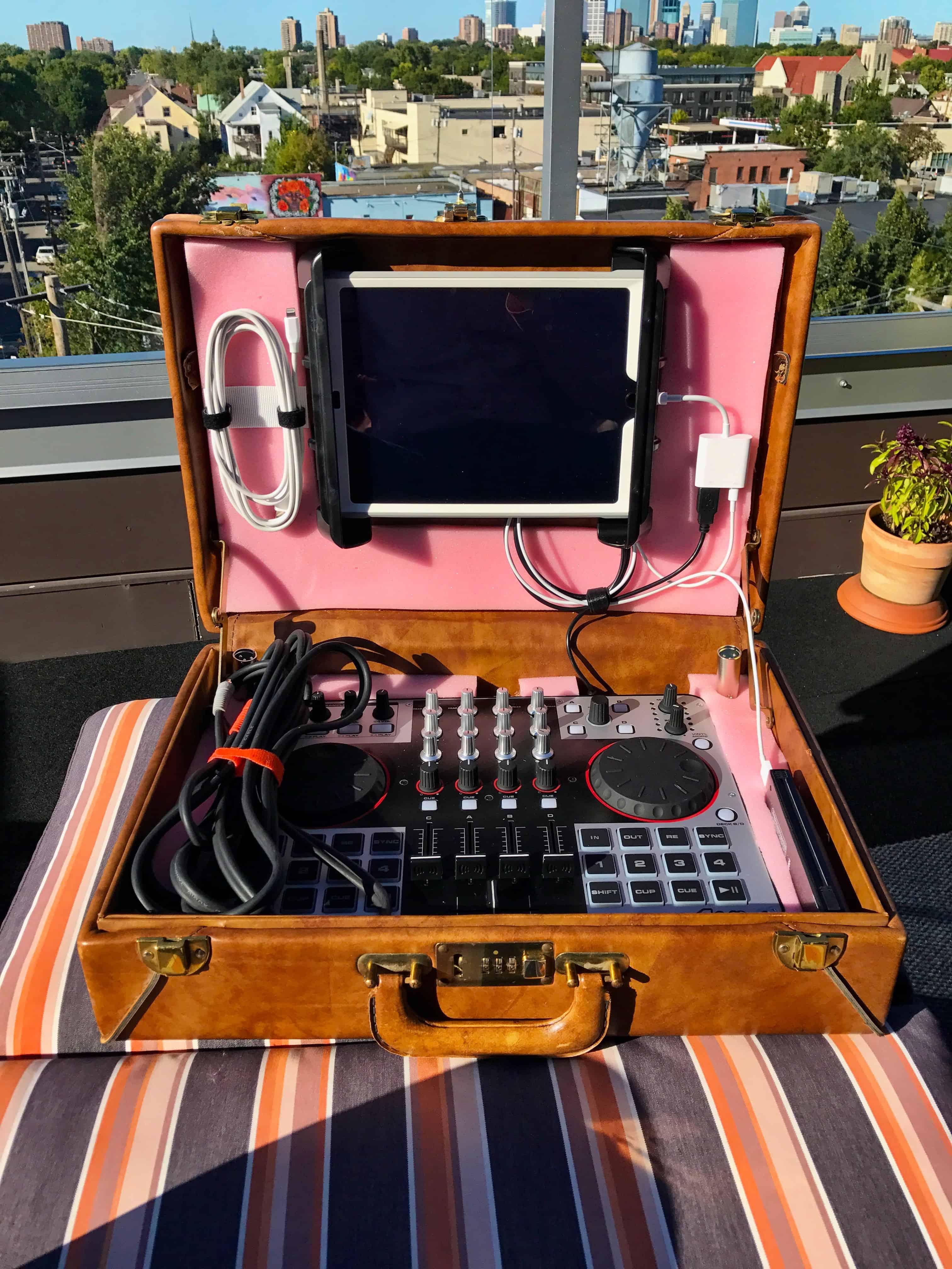 Briefcase open