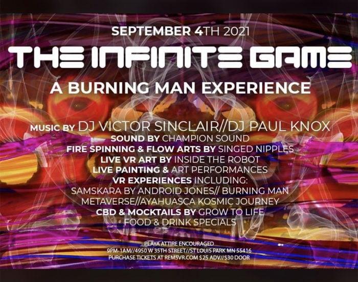 Infinite Game VR Event September 4 2021 Cover Art